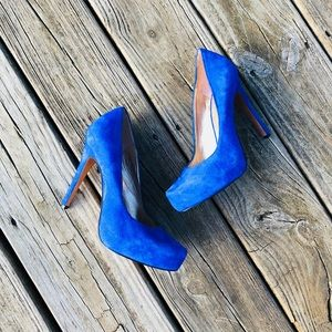 BcbGeneration Blue Suede Heels